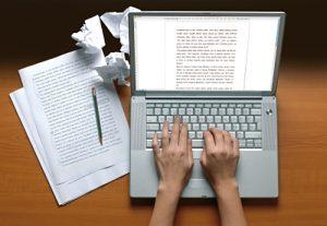 Content schrijven achter de computer